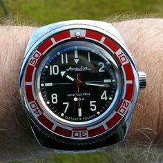 Vostok amphibia 090 mod Gents Watches, Watches For Men, Vostok Watch, Seiko, Fashion Watches, Clocks, Omega Watch, Cufflinks, Mens Fashion