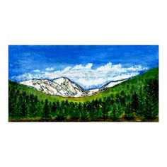 jGibney Breckenridge CO Posters Travel Log, Tree Art, Watercolor And Ink, Art Pieces, Museum, In This Moment, Canvas, Artist, Artwork