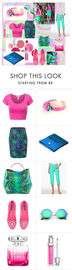 """""""Pink, turquoise and blue."""" by nataly-germany on Polyvore featuring Mode, Dickins & Jones, Clinique, Christian Dior, Style & Co., Dolce&Gabbana, Therapy und Jimmy Choo"""