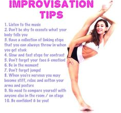 This may be a improv tip but this helps when when you have to improv in an audition