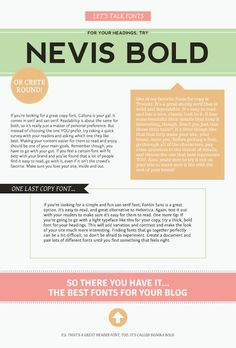 The Best Fonts For A Blog from Alt Design Summit Blog