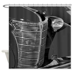 Grilled Roadster Shower Curtain on CafePress.com