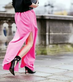 Pink Passion: maxi skirt