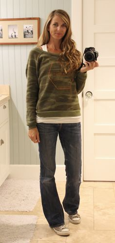casual wear - camo sweatshirt from zoe clothing company