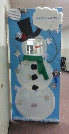 #snowmanyourself 2014 Christmas door decorating contest - preschool                                                                                                                                                                                 More
