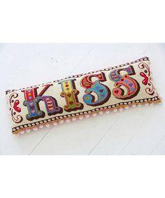 Emily Peacock, Kiss Tapestry Kit, £85.00. #libertygifts #giftsformum #tapestrykit #emilypeacock