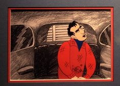 """cool Marlon Brando Original Animation Cel from Electric Company Animated Spoof of """"On The Waterfront"""""""