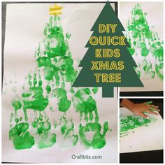 This quick Kids Christmas craft tutorial is lots of fun to make and the kids will truly enjoy the finger painting. You could create these on card stock or a canvas frame for a Christmas gift or cla…