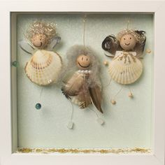 """★ Bastelidee / Geschenkidee: Engel aus Muscheln basteln  ★  kostenlose bebilderte Bastelanleitung im Bastelmagazin """"Alles rund ums Basteln"""""""