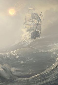 Ideas For Painting Sea Storm Ocean Ice climbing waters trip ships kayaking Ocean Storm, Fantasy Posters, Old Sailing Ships, Sea Of Thieves, Ship Drawing, Ship Paintings, Arte Obscura, Ship Art, Ocean Waves