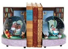 Disney Beauty and the Beast Bookend Snowglobes