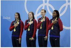 Life, lanes, Lani: Swimming 4 x 100 Medley Relay - US Women and Men -...