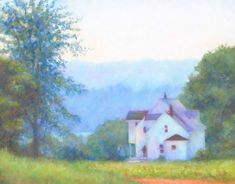 Oil Pastels A Comprehensive Guide to Painting with Oil Pastel. Riverside Farm by Wendy Manning Oil Pastel Paintings, Pastel Artwork, Oil Pastel Drawings, Oil Pastel Art, Art Drawings, Original Paintings, Oil Pastel Landscape, Landscape Paintings, Scenery Paintings