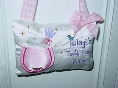 Tooth Fairy Pillow Girl 5x7 | In the Hoop | Machine Embroidery Designs | SWAKembroidery.com