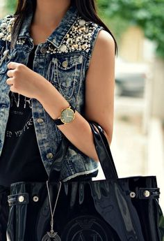 Denim Vest #Zanzea Short Denim Jean Outwear Jacket Coat