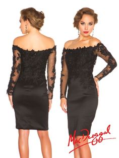 MAC DUGGAL 61398r Lace Rhinestone Cocktail Dress Black $455 FREE WORLD DELIVERY * FREE GIFT WRAPPING * FREE RETURNS * 100% QUALITY ASSURANCE GUARANTEED..FOLLOW US ON POLYVORE! WE HAVE JUST BEEN HONORED WITH THE OFFICIAL BLACK SEAL ALONG WITH GUCCI & OTHER GREAT COMPANIES! SAVE ON THIS DRESS UNTIL DEC 21st!