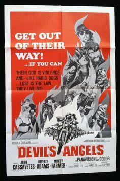 Original Movie Poster Devil's Angels 1967 - Roger Corman John Cassavetes