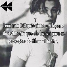 Esse mesmo lagarto foi atropelado durante as gavações de #Titanic mas #DiCaprio cuidou bem do seu animal de estimação fazendo com que ele se recuperasse #curiosidades #leonardodicaprio #oscar #filme #cinema #curiosidades #cinefilos