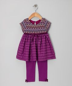 Take a look at this Purple Zigzag Tunic & Leggings - Infant on zulily today!