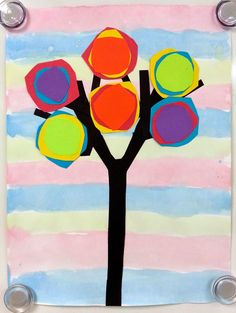 Art with Ms. Gram: colour mixing trees.  learn about primary and secondary colours.