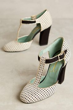 Paola d'Arcano Nero T-Strap Heels - anthropologie.com