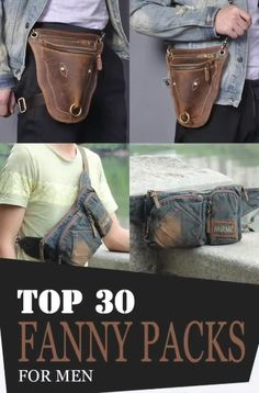 Fanny packs also provide plenty of benefits and advantages. Just like what we've mentioned earlier, they are lightweight, meaning easy to carry! Leather Bum Bags, Leather Fanny Pack, Leather Purses, Leather Men, One Shoulder Backpack, Side Bags, Mens Style Guide, Denim Bag, Waist Pack