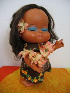 Vintage Hula Doll  Girl  Hawaiian Doll Ahh The Memories!