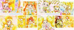 Shiny Luminous (Hikari), Cure Lemonade (Urara), Cure Pine (Inori), Cure Sunshine (Itsuki), Cure Muse (Ako), Cure Peace (Yayoi), Cure Rosetta (Alice), Cure Honey (Yuuko), Cure Twinkle (Kirara), and Cure Custard (Himari)