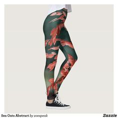 Sea Oats Abstract Leggings - TODAY 15% off with code STICK2GETHER from ZoeSPEAK