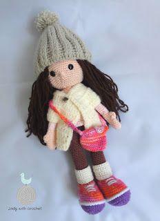 Lady with crochet: Zuzia lalka nieduża / Crochet doll