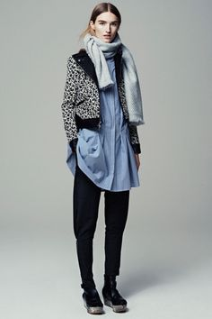Coat? Check! 6 Stay-Warm Party Tips For NYE #refinery29  http://www.refinery29.com/warm-party-outfits#slide6  A low-key party begs for a totally wearable outfit. Feel completely comfortable and still look put-together by pairing your live-in-'em basics with a funky jacket and wrap-around scarf.