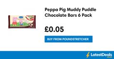 Peppa Pig Muddy Puddle Chocolate Bars 6 Pack, £0.05 at Poundstretcher