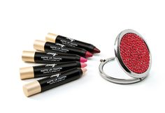 Bold colored matte lip crayons - #redhotholiday