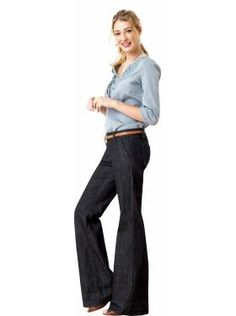 even though they make me look like a major fatty/my husband can't stand them...i love me some wide leg jeans!