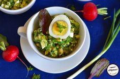 Salata de oua cu hasmatuchi Ramen, Meat, Chicken, Ethnic Recipes, Salads, Cubs