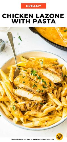 Chicken Lazone is a creamy and flavorful chicken dish served with penne pasta. It's tasty, made from scratch, and the perfect recipe to prepare for dinner. Italian Chicken Recipes, Chicken Flavors, Chicken Lazone, Creamed Onions, Penne Pasta, Creamy Chicken, Perfect Food, How To Cook Pasta, Food Hacks