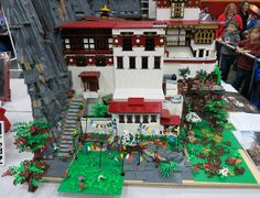 Lego Tiger's Nest Monastery by Anu Pehrson | Bricks Cascade 2014 | Flickr - Photo Sharing!