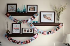 Photo Banners for 1st Birthday Party