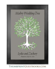 Signature Only Guestbook Tree # 10 Gray Background  Check it out http://thumbprintguestbooks.com/signature-only-guestbook-tree-10-gray-background/