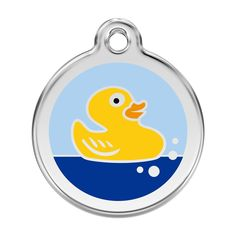 Red Dingo Custom Engraved Stainless Steel and Enamel Dog ID Tag - Rubber Ducky *** Hurry! Check out this great product : Dogs ID tags and collar accessories