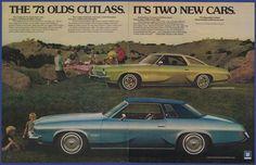 Vintage 1972 '73 CUTLASS S SUPREME Colonnade GM Automobile Car Print Ad 1970's #GMCutlassSCutlassSupreme