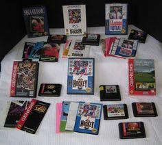 Sega Genesis Game Cartridge LOT manuals Boxing Legends of the rings Madden ETC.