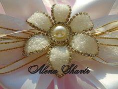 Серединки-цветочки для бантиков своими руками / Канзаши Легко Просто Alena Shavtr - YouTube
