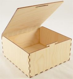 Snap Fit Wood Box With Lid Open