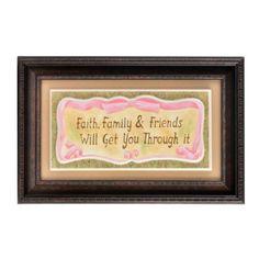 Faith Family & Friends Framed Print