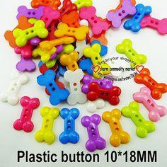 Plastic buttons (bones), 10*18mm, 100 pcs Пластиковые пуговицы (косточки), 10*18 мм, 100 шт