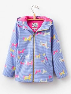 Neon Spot - Joules Girls Raindance Showerproof Coat
