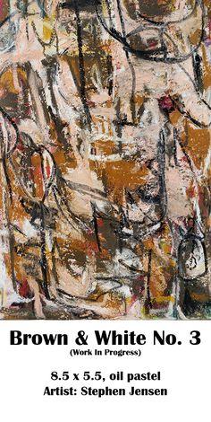 Still not happy with this pastel. Still working on it. (work in progress) 8.5 x 5.5, oil pastel Artist: Stephen Jensen #stephenjensen #abstractart #oilpastelart #neopastel #art Oil Pastel Art, Abstract Art, Happy, Artist, Ser Feliz, Artists, Being Happy