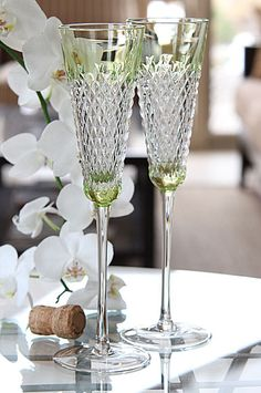Waterford Alana Prestige Lime Toasting Flutes