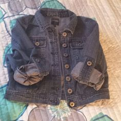 Cute Mini Denim Jacket Has 2 button pockets and 2 open pockets on the front of the jacket. Has buttons on sleeves so you can cuff them. Highway Jeans Jackets & Coats Jean Jackets